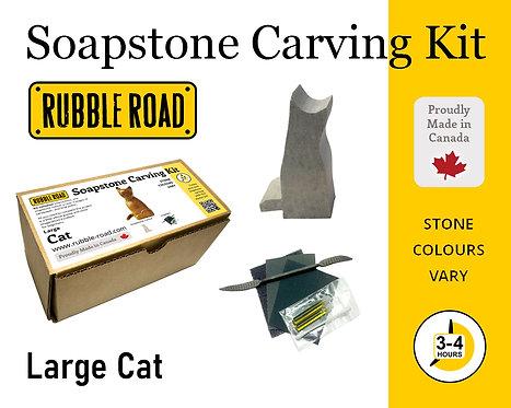 Cat Large Soapstone Carving Kit