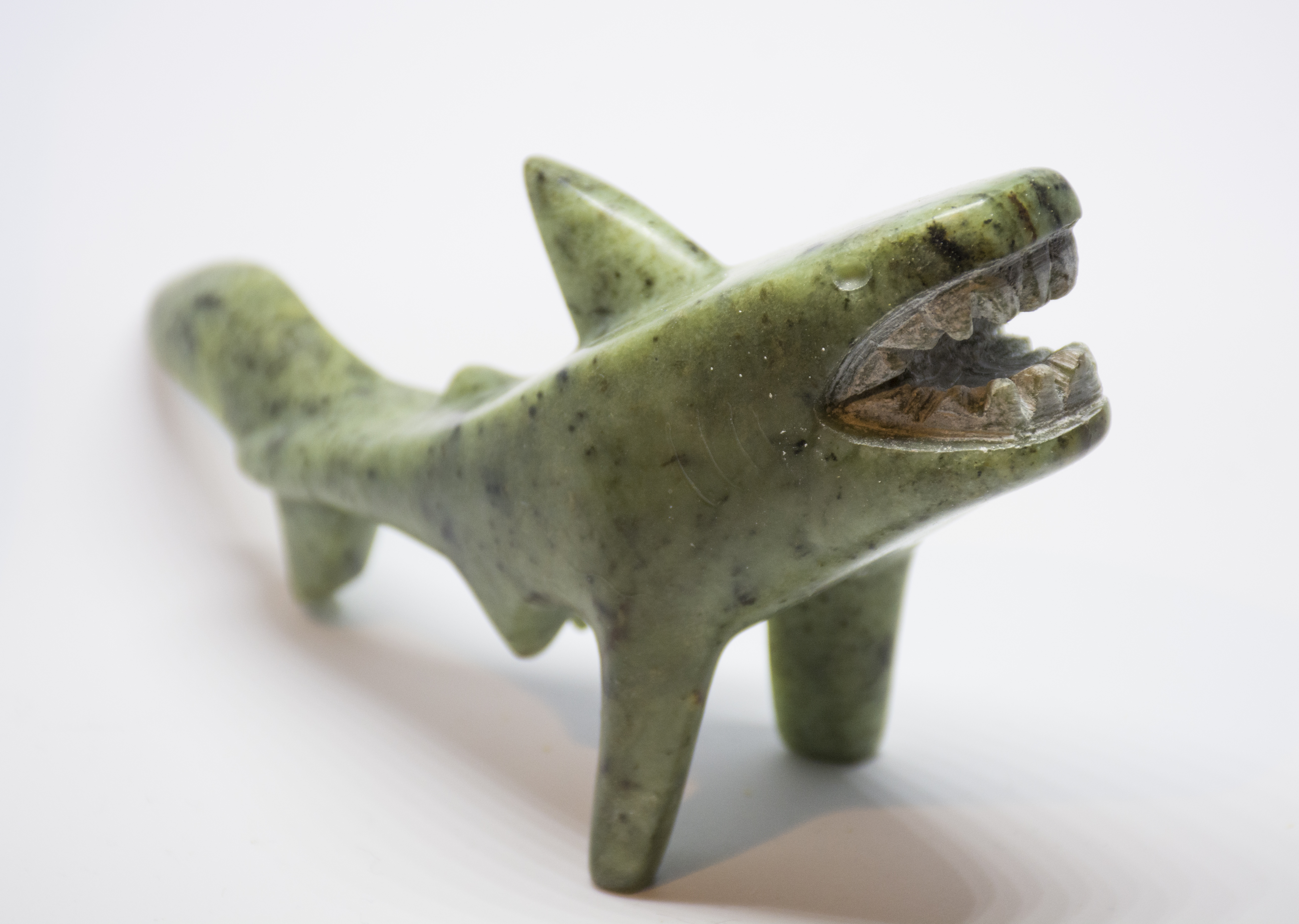 Soapstone Shark Great White Sculpture Carving Kit