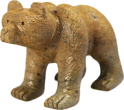 Brazilian Soapstone Sculpture Bear Carving