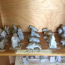 Soapstone Carvings before Oiling