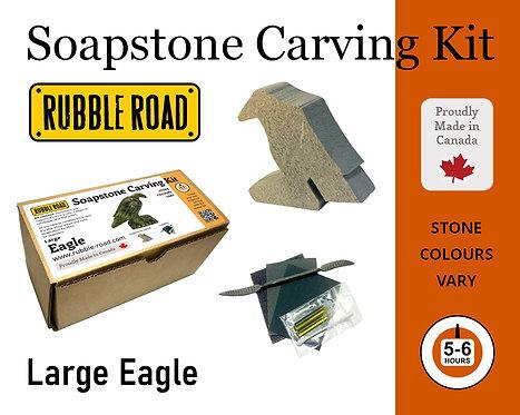 Eagle Large Soapstone Carving Kit
