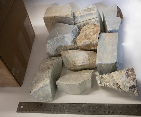 25lb Brazilian Soapstone Medium Chunk Box