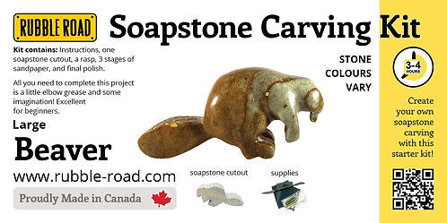 Beaver Large Soapstone Carving Kit