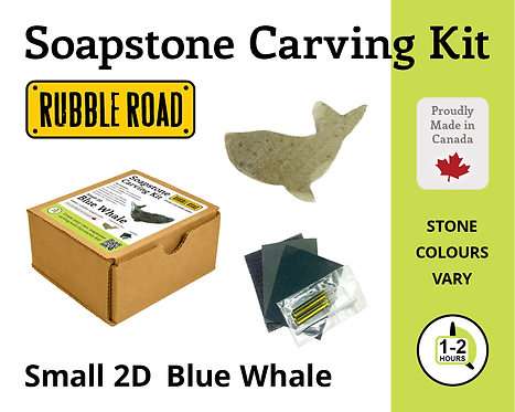 Whale Small Soapstone Carving Kit