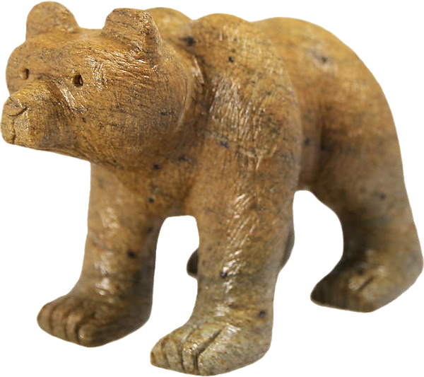 Soapstone Grizzly Bear Carving