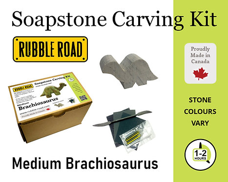 Brachiosaurus Medium Soapstone Carving Kit