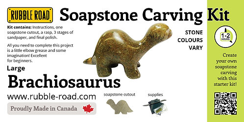 Brachiosaurus Large Soapstone Carving Kit