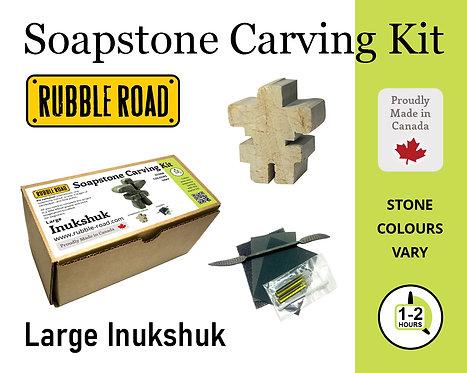 Inukshuk Large Soapstone Carving Kit