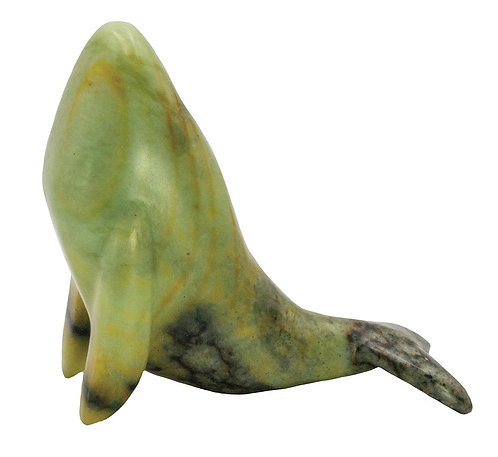Handcarved Soapstone Whale Carving