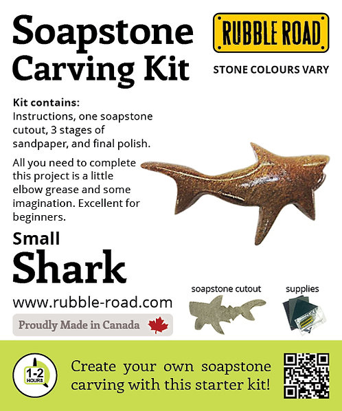 Shark Small Soapstone Carving Kit