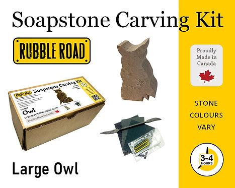 Owl Large Soapstone Carving Kit