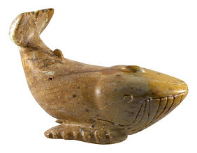 Soapstone Whale Carving