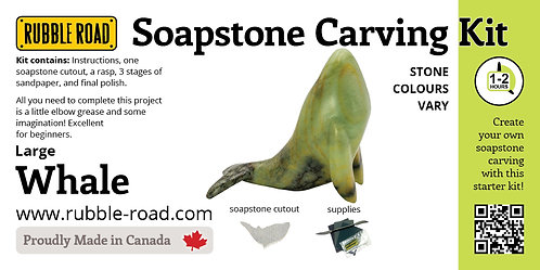 Whale Large Soapstone Carving Kit