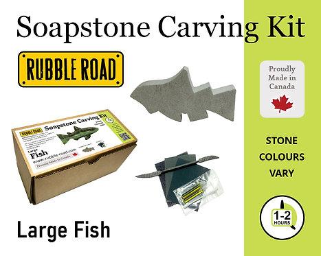 Fish Large Soapstone Carving Kit
