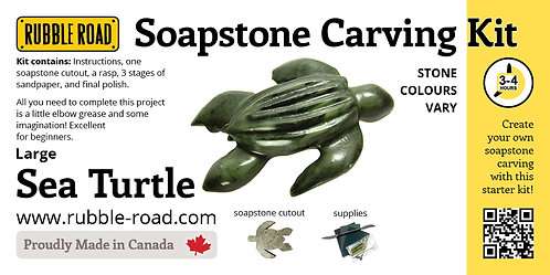 Sea Turtle Large Soapstone Carving Kit
