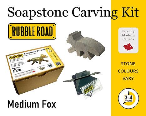Fox Medium Soapstone Carving Kit