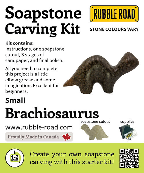 Brachiosaurus Small Soapstone Carving Kit