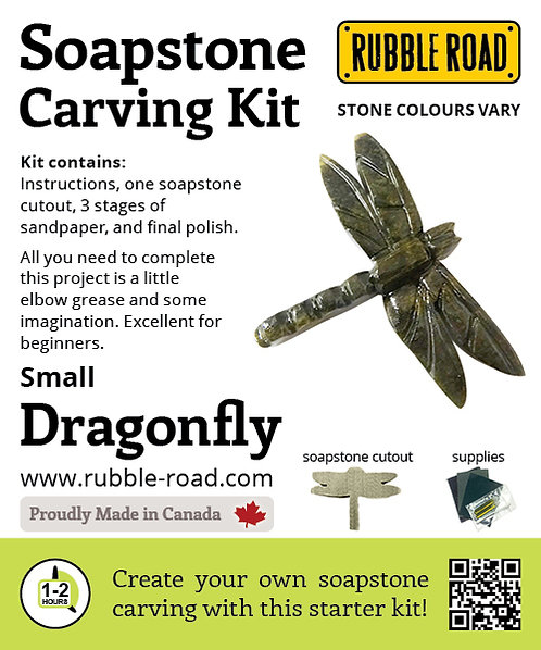 Dragonfly Small Soapstone Carving Kit
