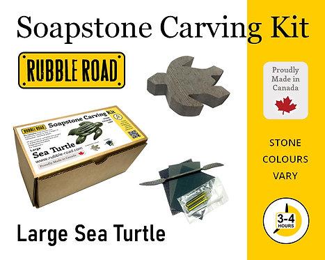 Sea Turtle Large Soapstone Carving Kit