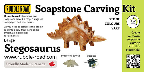 Stegosaurus Large Soapstone Carving Kit