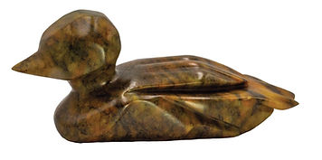 Soapstone Loon Carving Sculpture Rubble Road