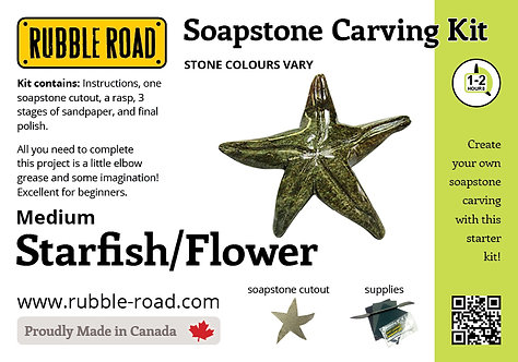 Starfish Medium Soapstone Carving Kit