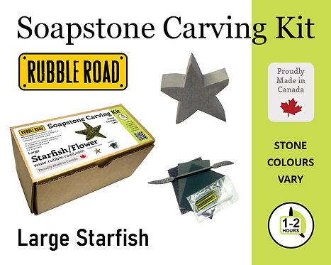 Starfish Large Soapstone Carving Kit