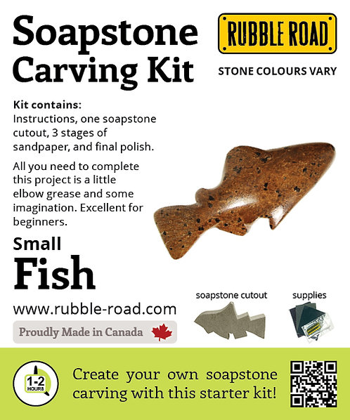 Fish Small Soapstone Carving Kit