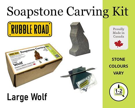 Wolf Large Soapstone Carving Kit
