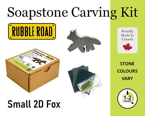 Fox Small Soapstone Carving Kit