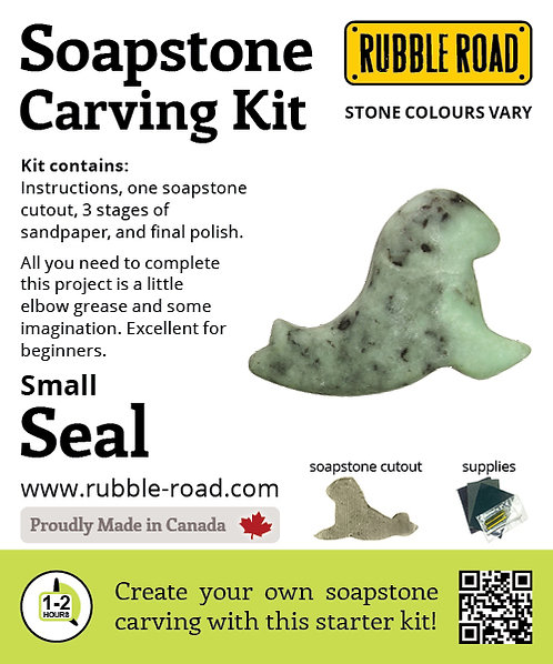Seal Small Soapstone Carving Kit