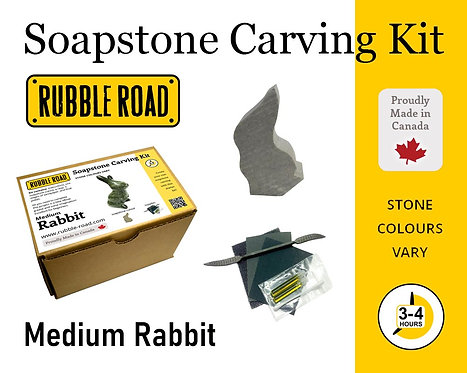Rabbit Medium Soapstone Carving Kit