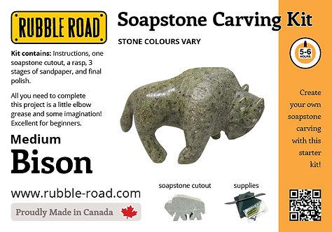 Bison Medium Soapstone Carving Kit