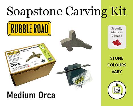 Orca Medium Soapstone Carving Kit