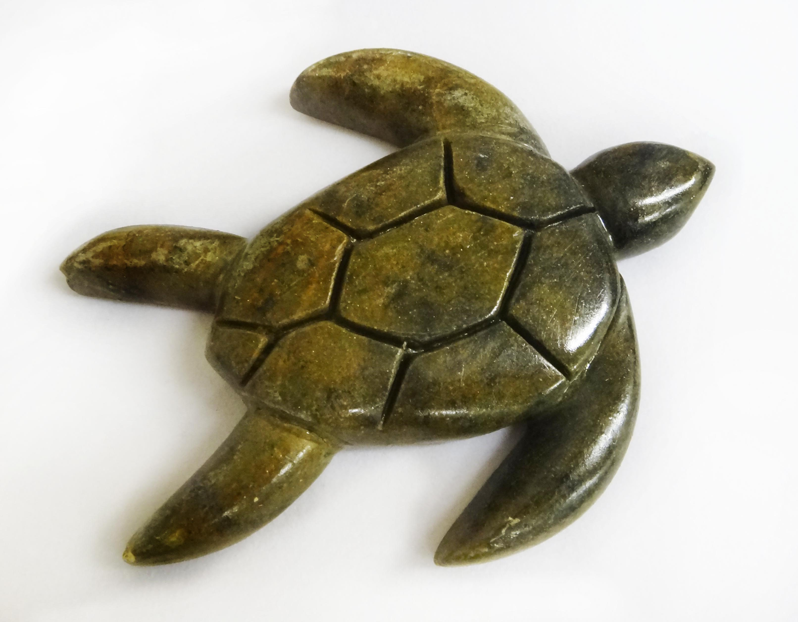 Soapstone Sea Turtle Sculpture Carving Project