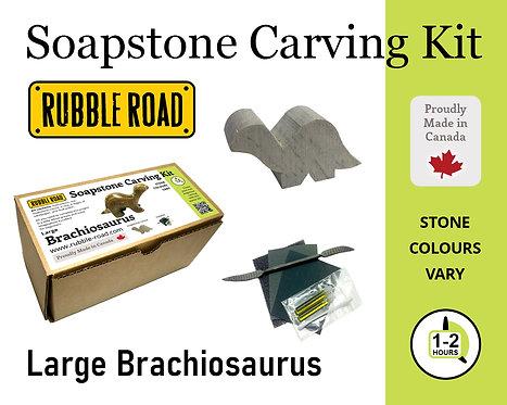 Brachiosaurus Large Soapstone Carving Kit