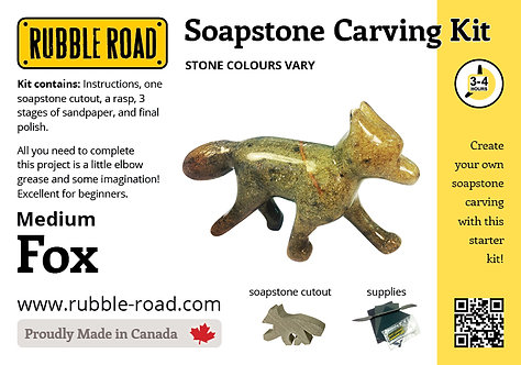 Fox Medium Soapstone Carving Kit