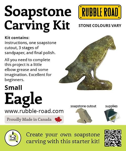 Eagle Small Soapstone Carving Kit