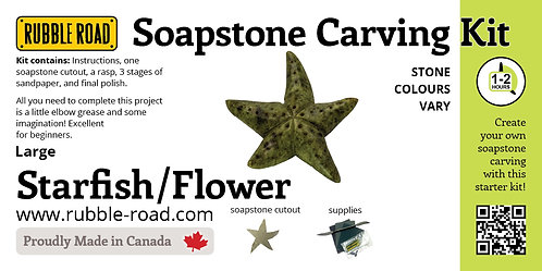 Starfish Large Soapstone Carving Kit