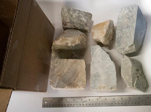 15lb Brazilian Soapstone Medium Chunk Box