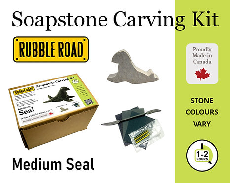 Seal Medium Soapstone Carving Kit