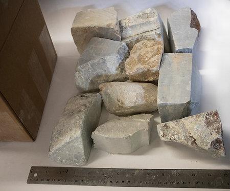 25lb Brazilian Soapstone Medium Chunk Box