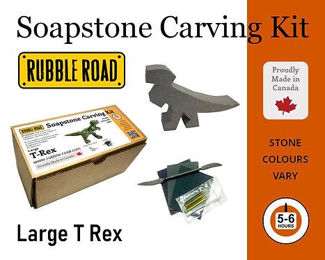 TRex Large Soapstone Carving Kit