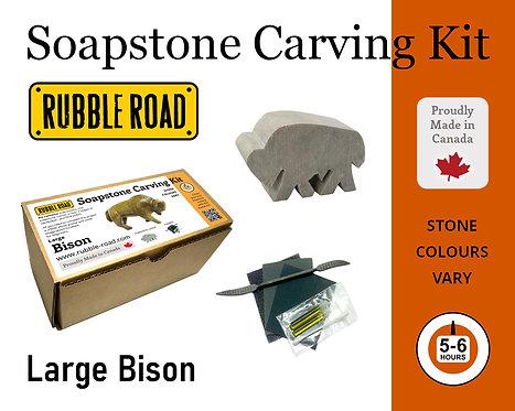 Bison Large Soapstone Carving Kit