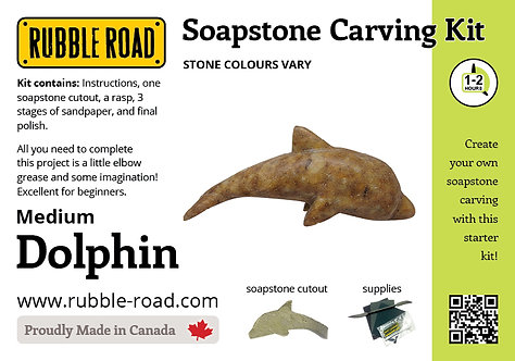 Dolphin Medium Soapstone Carving Kit