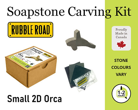 Orca Small Soapstone Carving Kit
