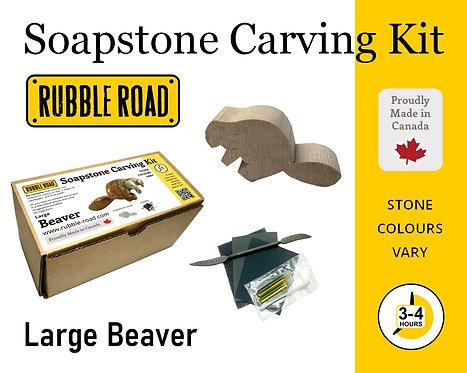 Beaver Large Soapstone Carving Kit