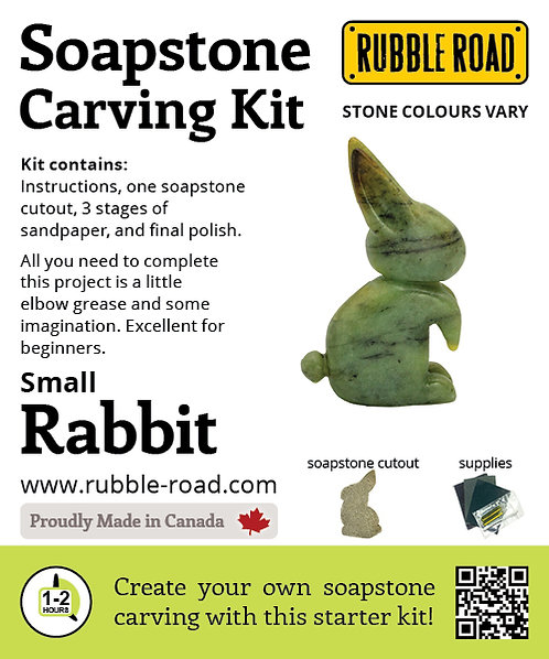 Rabbit Small Soapstone Carving Kit