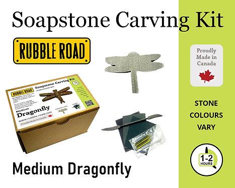 Dragonfly Medium Soapstone Carving Kit