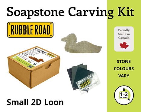 Loon Small Soapstone Carving Kit